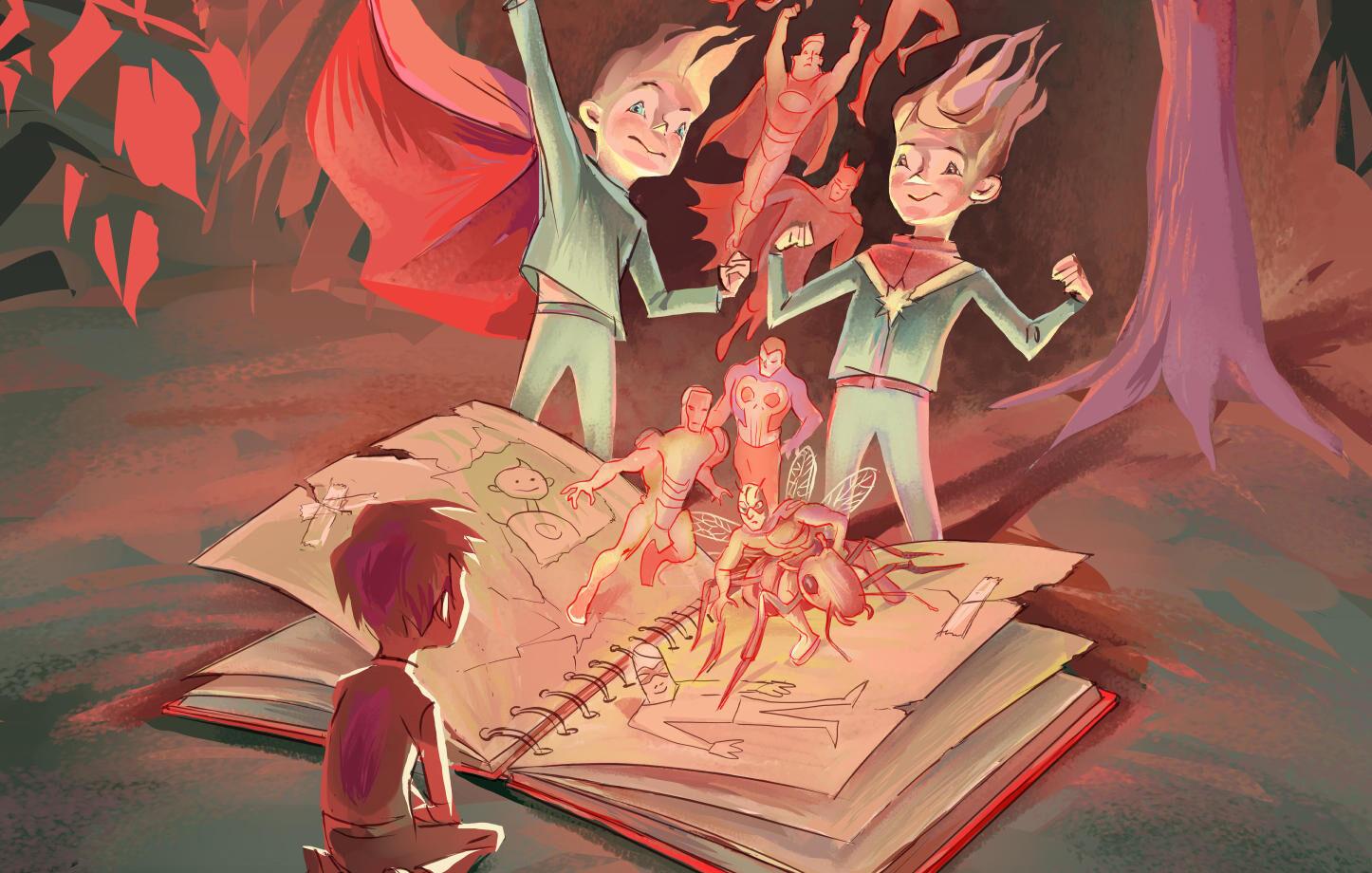 Dom trasiga superhjältarnas bok